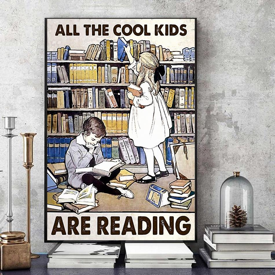 All the cool kids are reading poster art