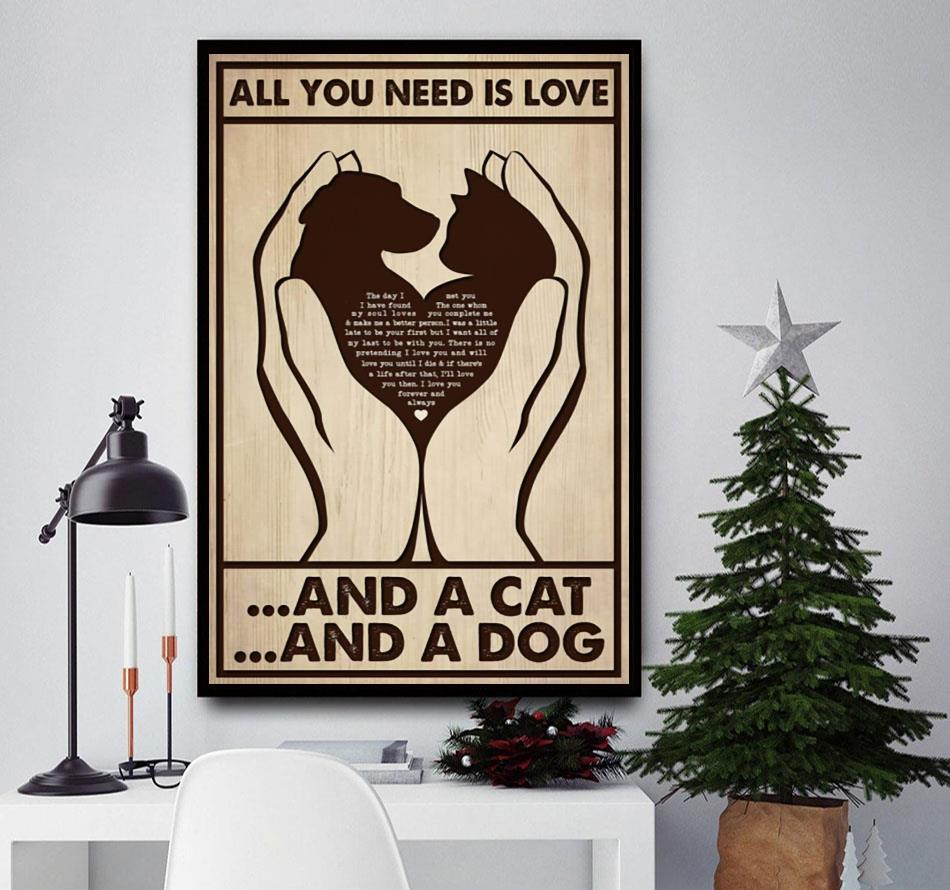 All you need is cats and dogs canvas