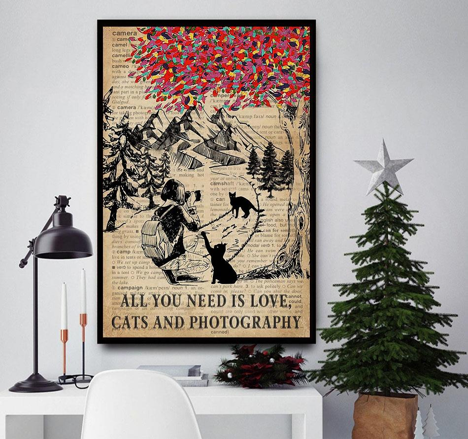 All you need is love cats and photography poster