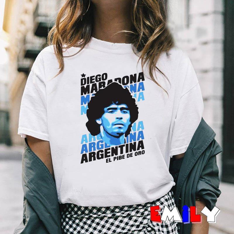 Always remember Rip Diego Maradona Argentina football t-shirt