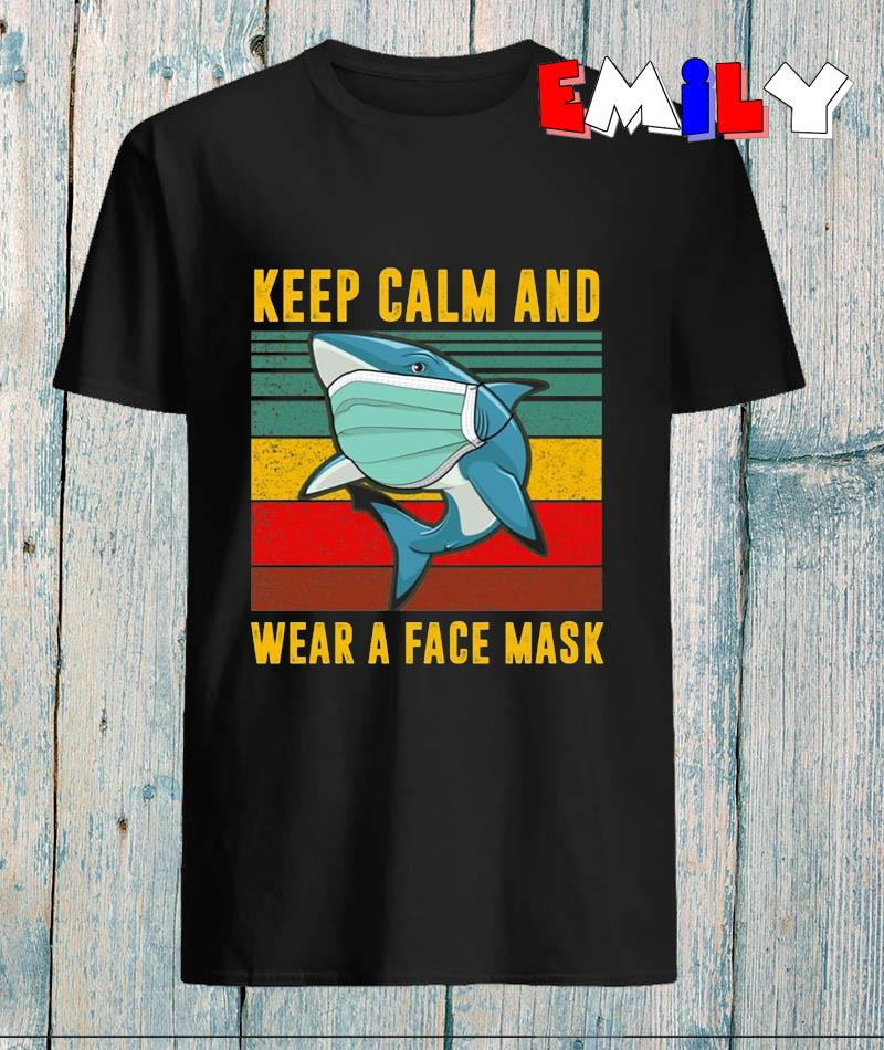 Baby Shark keep calm and wear a face mask vintage