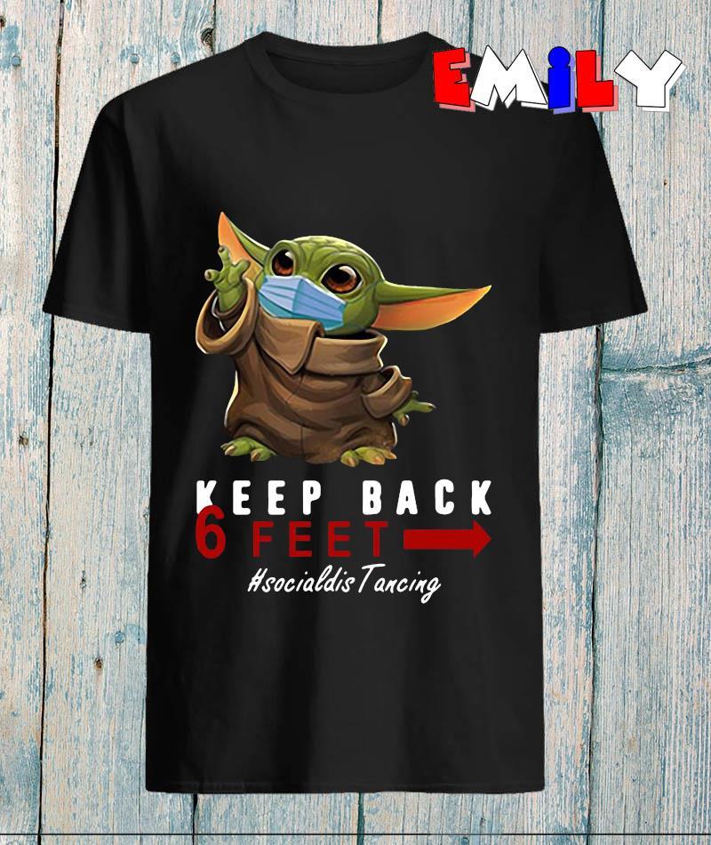Baby Yoda keep back 6 feet social distancing 2020