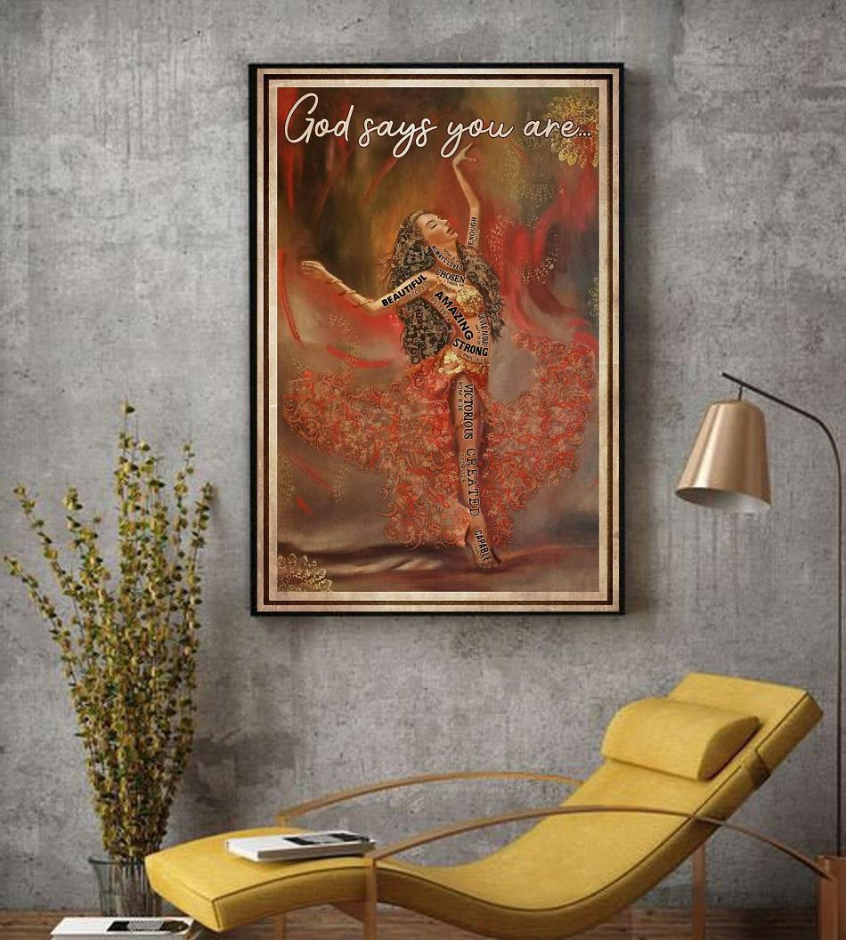 Ballet music dancing God says you are poster decor