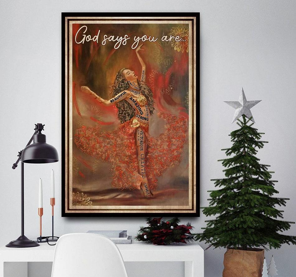 Ballet music dancing God says you are poster