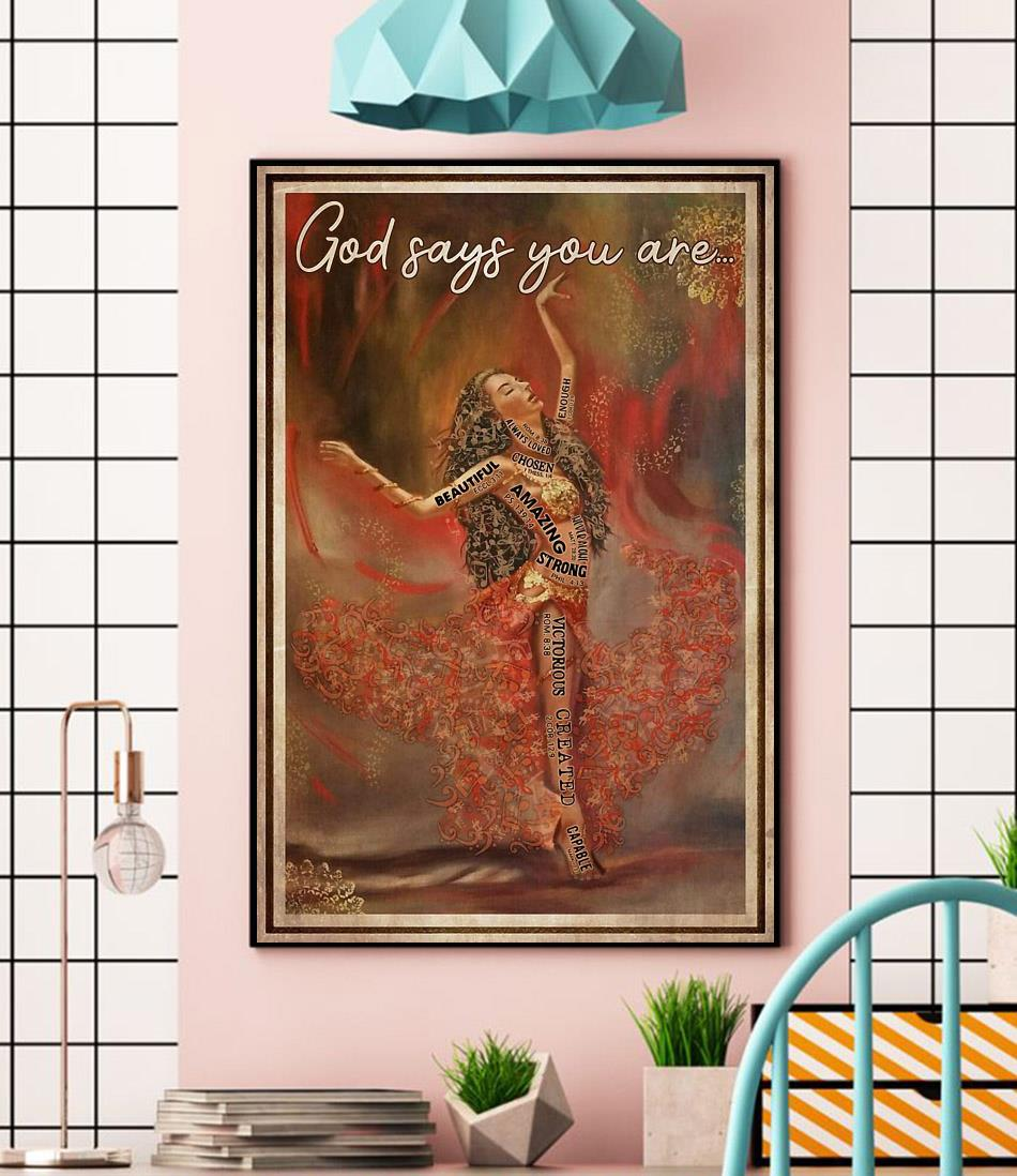 Ballet music dancing God says you are poster wall