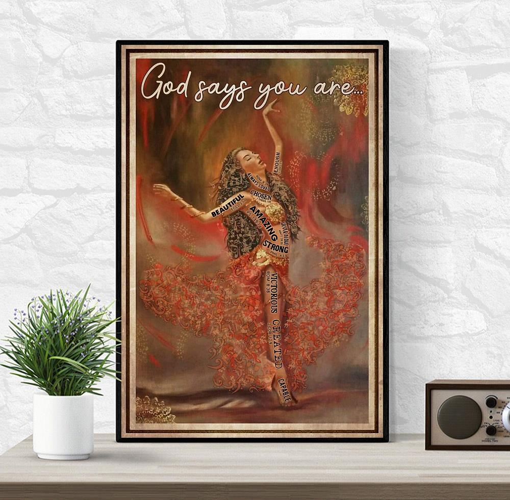 Ballet music dancing God says you are poster wrapped