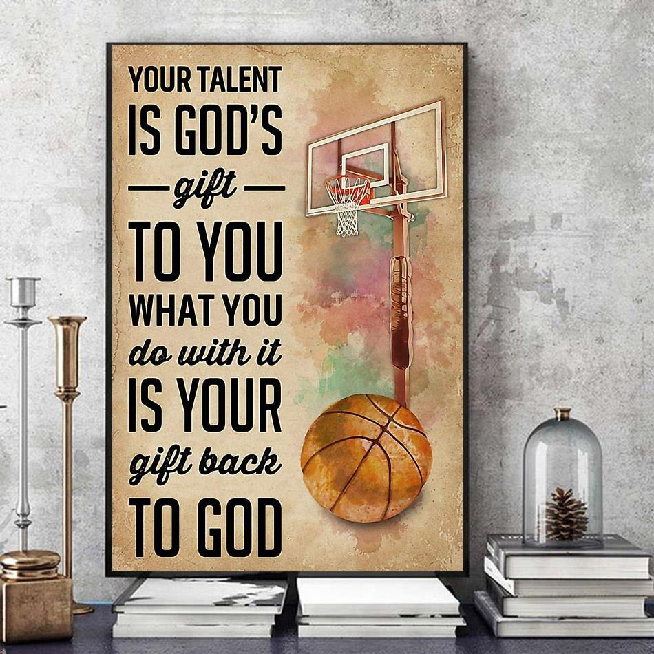 Basketball your talent is god's gift to you canvas art