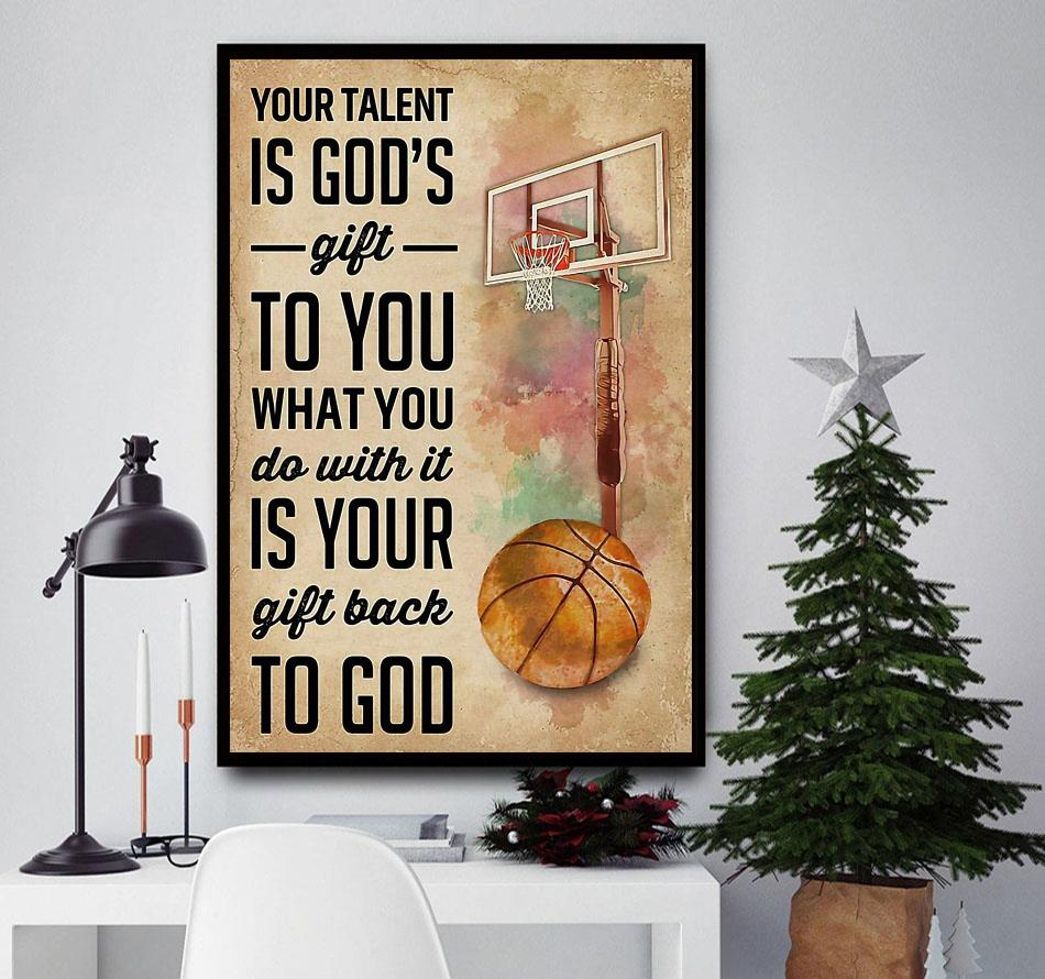 Basketball your talent is god's gift to you canvas