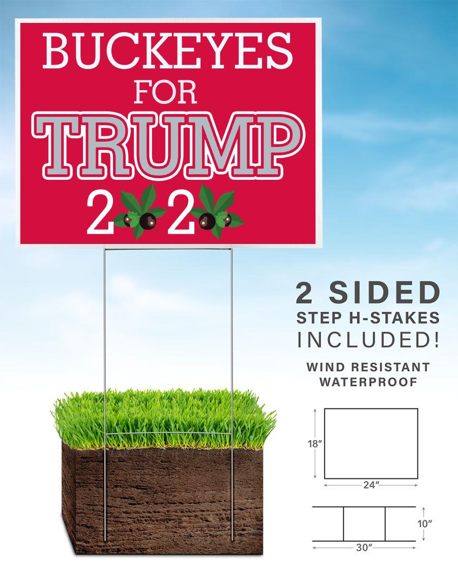 Buckeyes for Trump 2020 yard sign