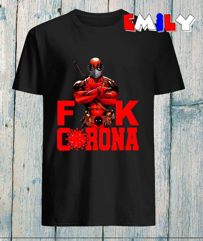 Deadpool face mask fuck corona