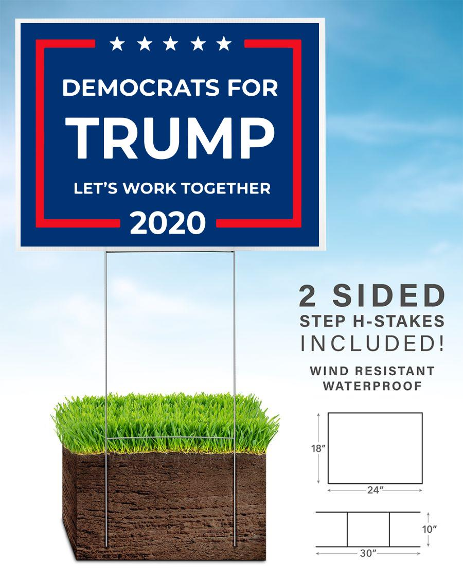 Democrats for Trump yard sign