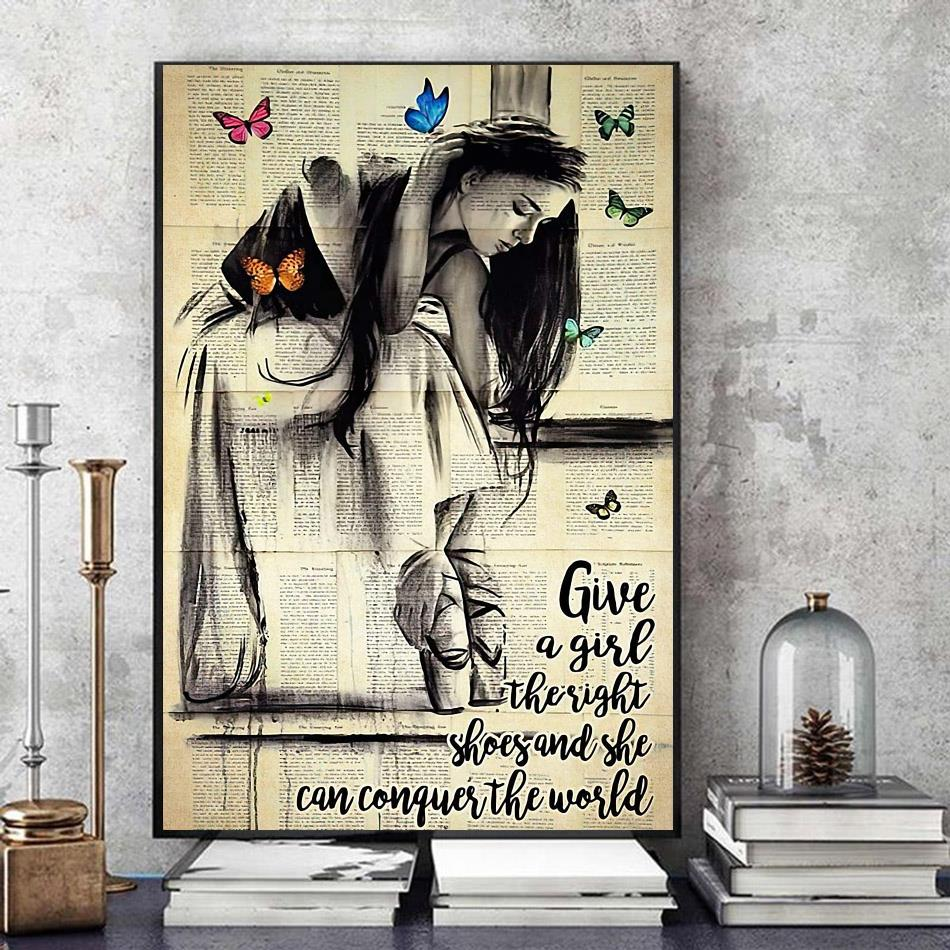 Dictionary ballet canvas give a girl the right shoes and she can conquer the world art