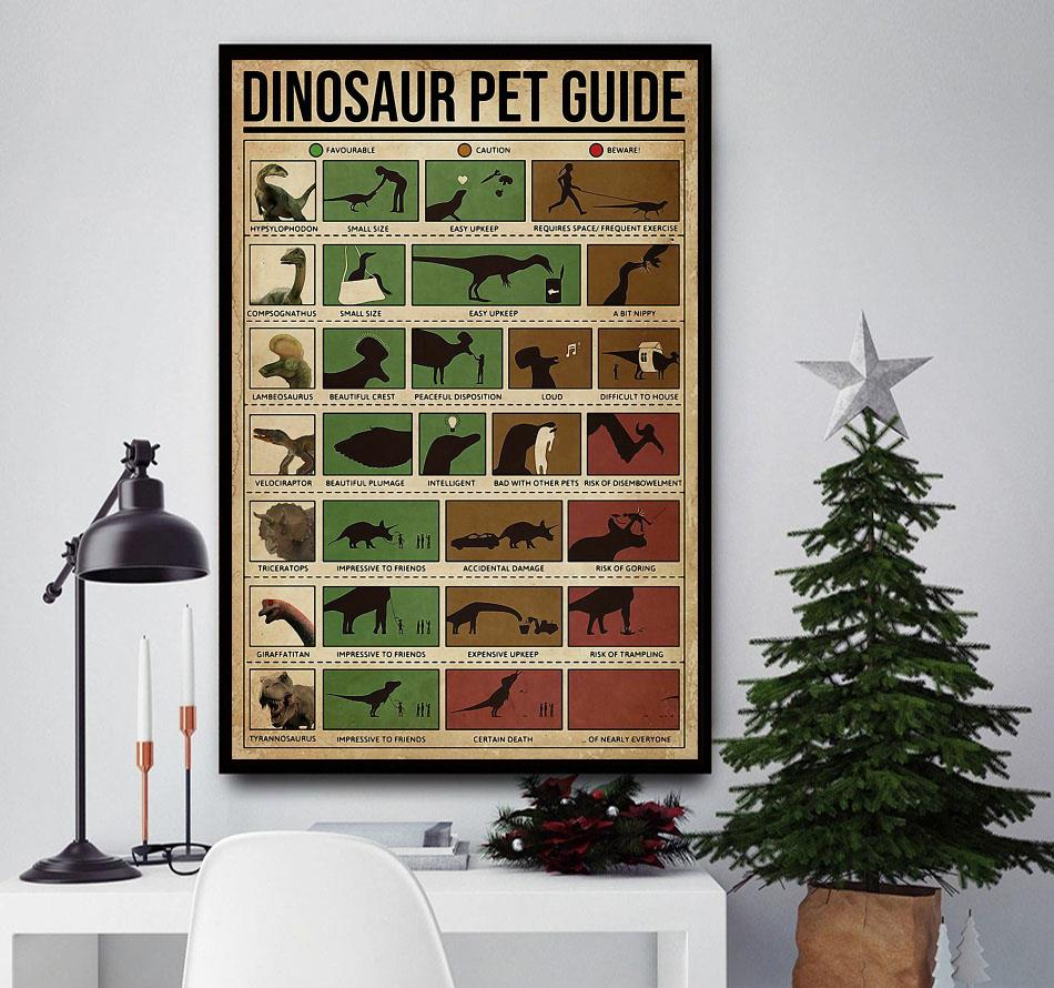 Dinosaur Pet Guide poster canvas