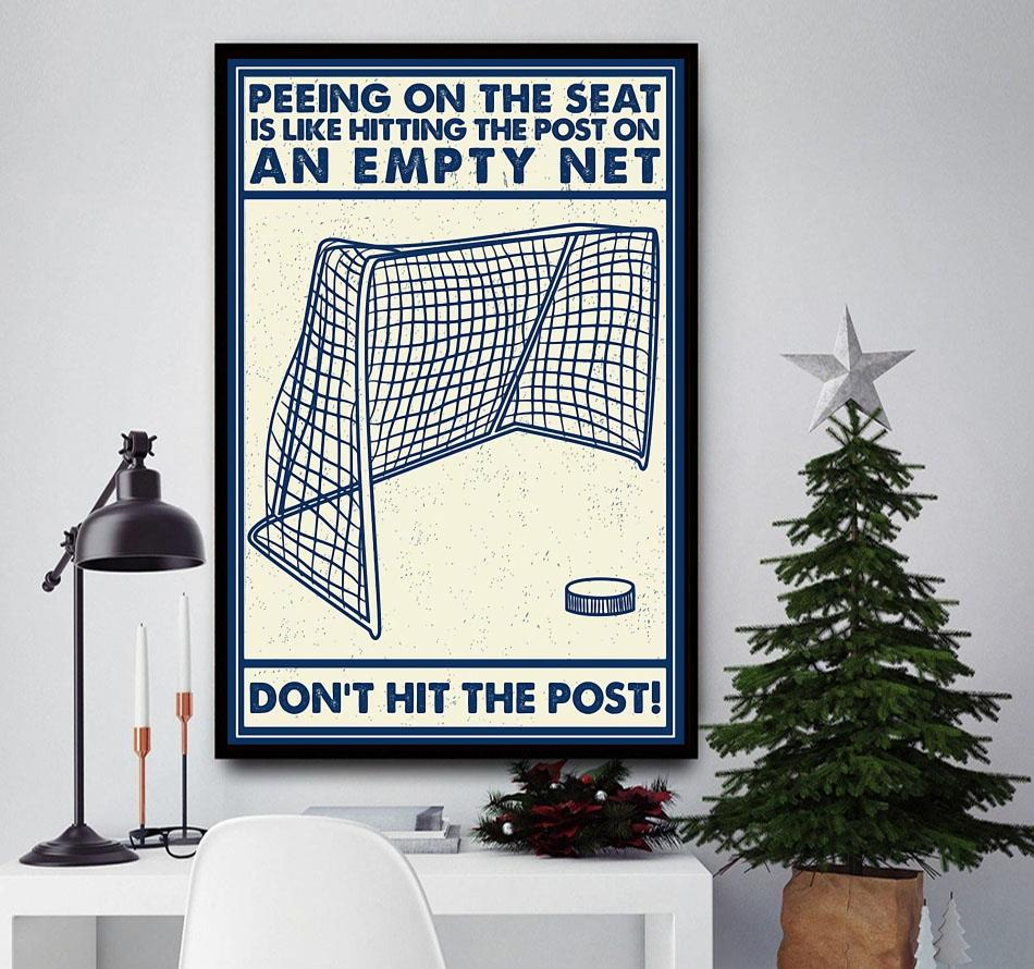 Hockey don't hit the post canvas