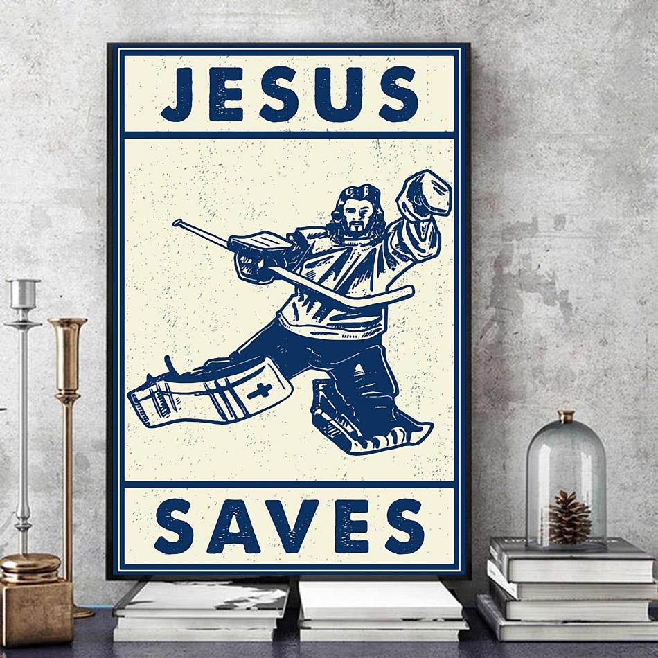 Hockey Jesus saves wall art art