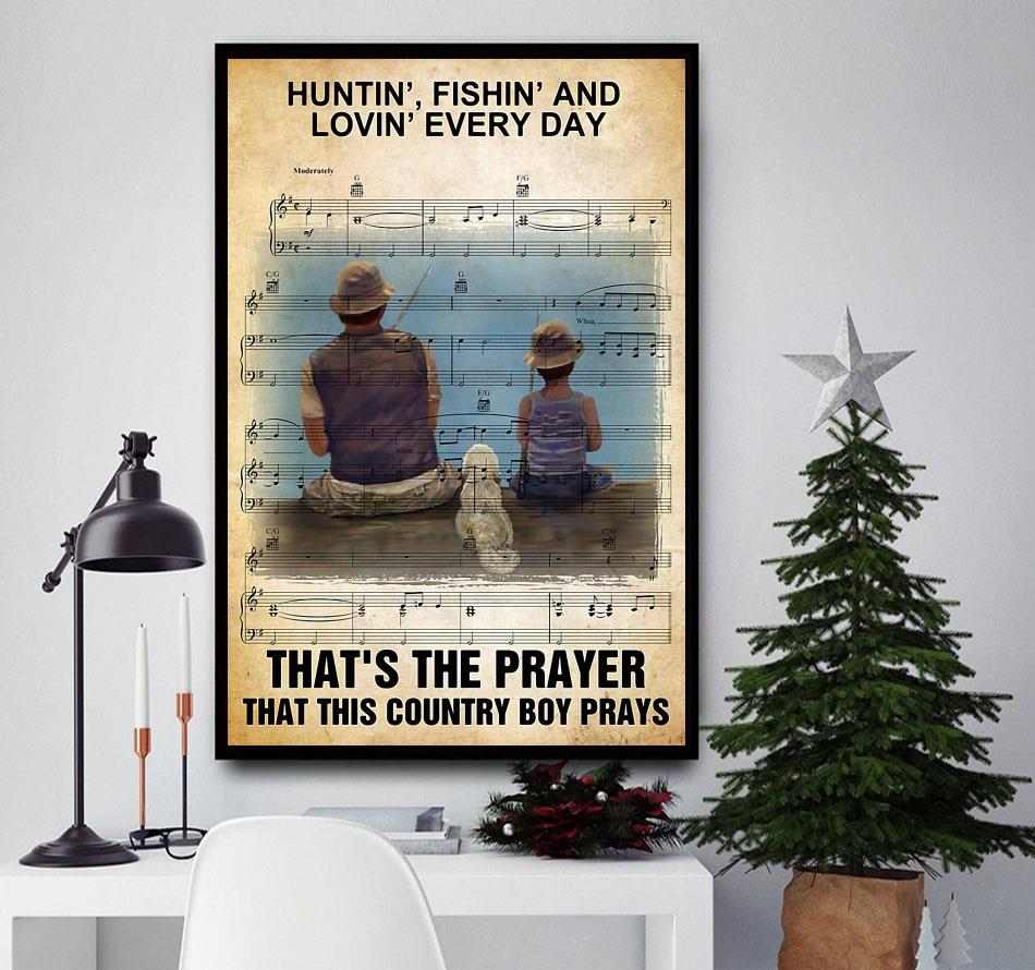 Hunting fishing loving everyday that's the prayer canvas