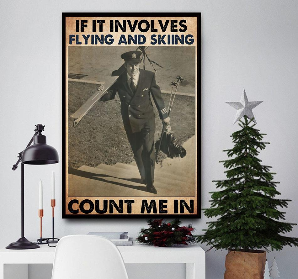 If it involves flying and skiing count me in poster