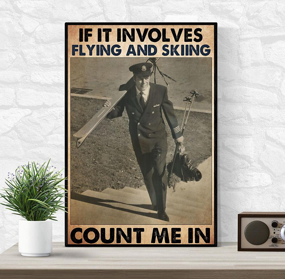 If it involves flying and skiing count me in poster wrapped