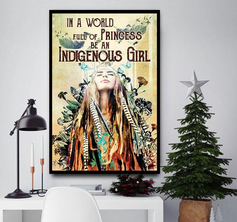 Indigenous Girl Native American print canvas