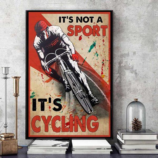 It's not a sport it's cycling vertical canvas art