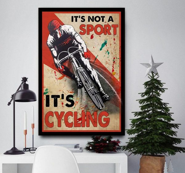 It's not a sport it's cycling vertical canvas