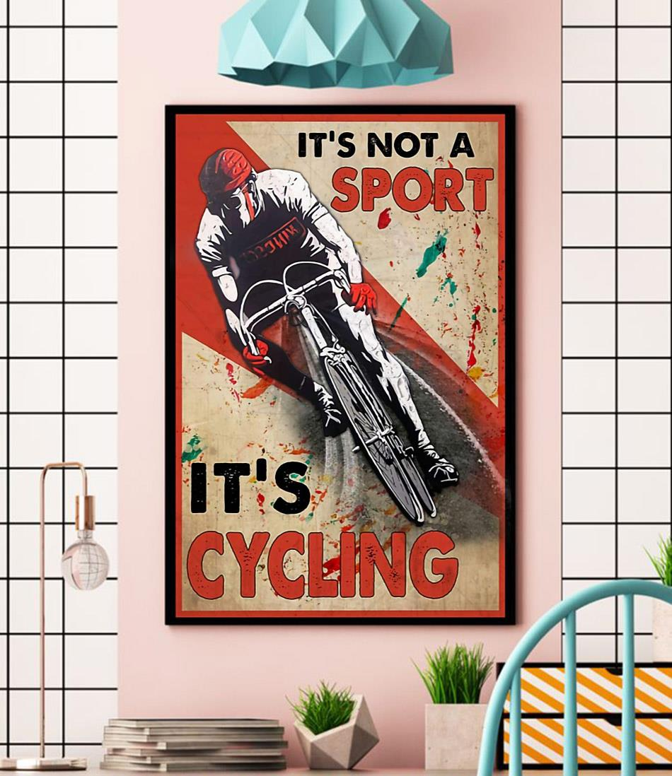 It's not a sport it's cycling vertical canvas wall