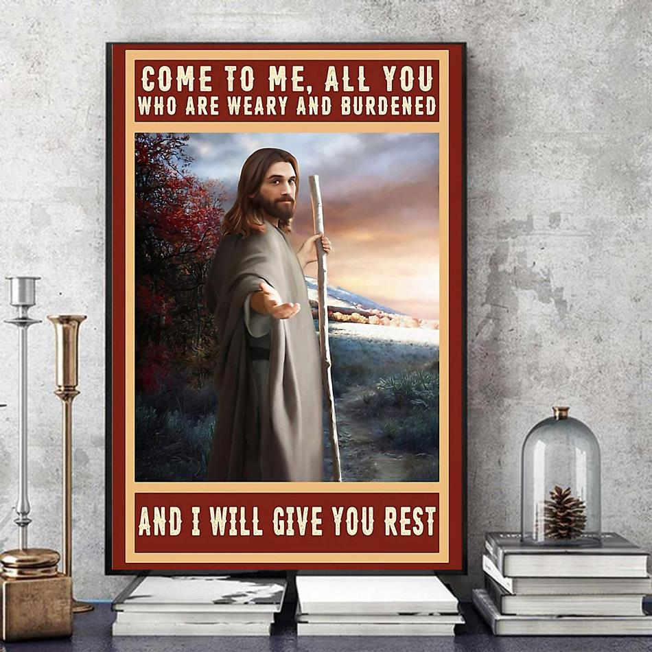 Jesus Christ canvas come to me all you who are weary and burdened art