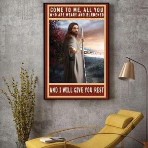 Jesus Christ canvas come to me all you who are weary and burdened decor