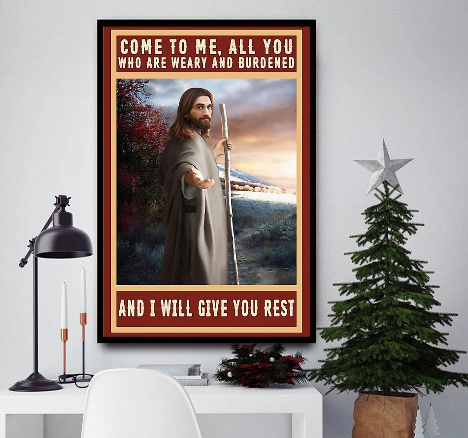 Jesus Christ canvas come to me all you who are weary and burdened