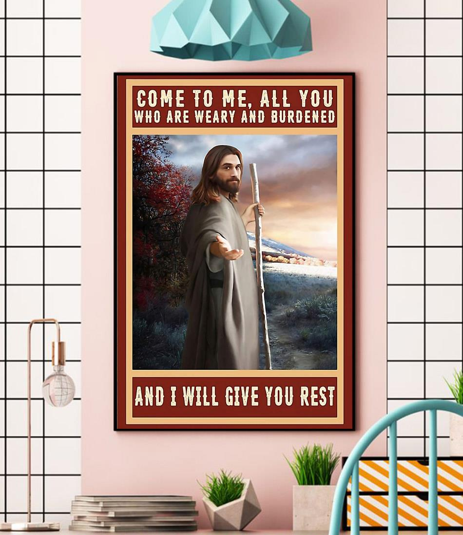 Jesus Christ canvas come to me all you who are weary and burdened wall