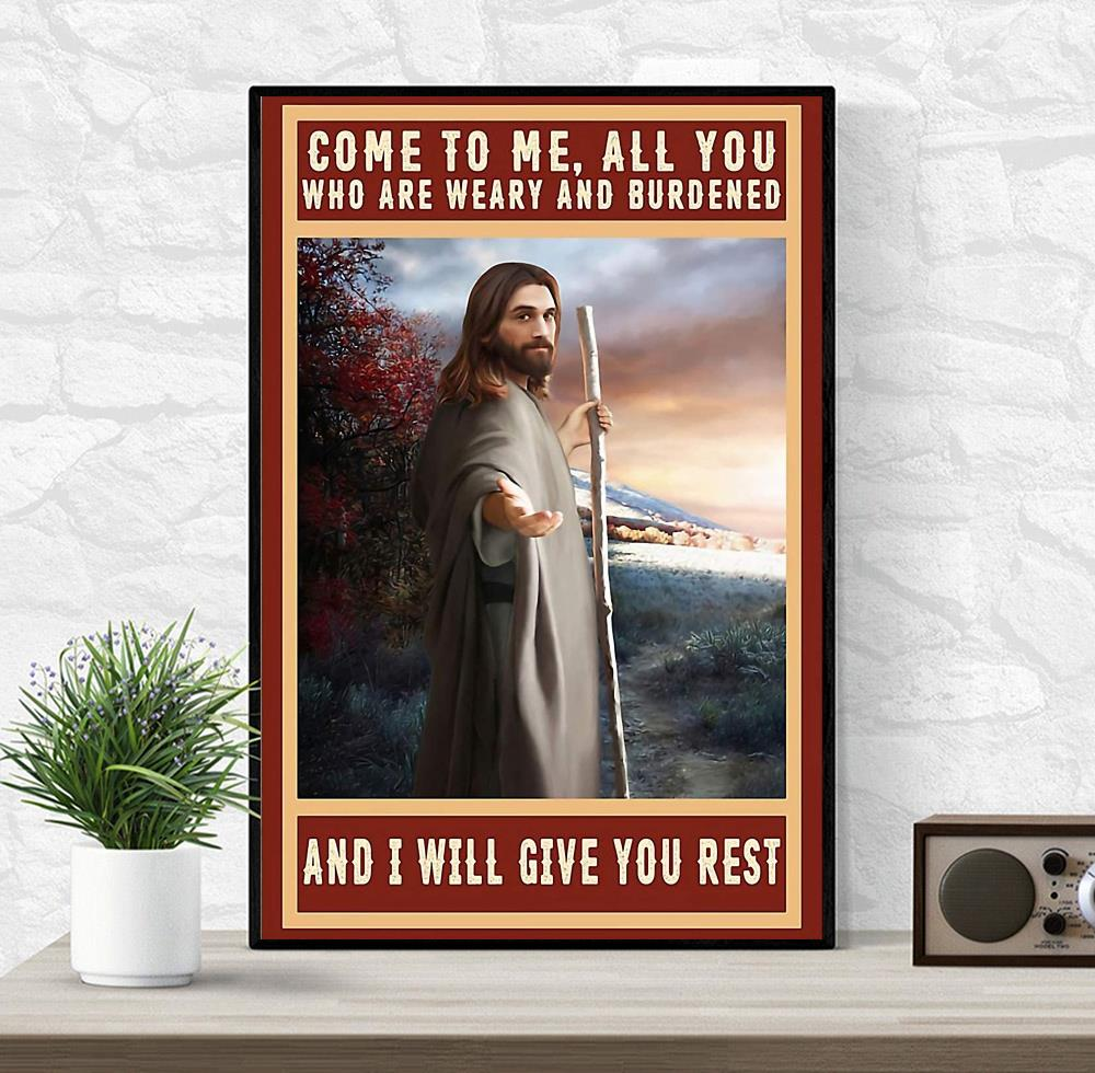 Jesus Christ canvas come to me all you who are weary and burdened wrapped