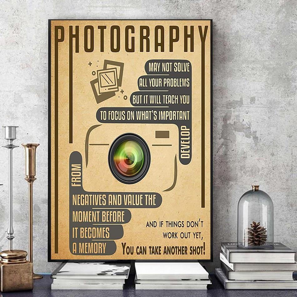 Photography you can take another shot vertical poster art