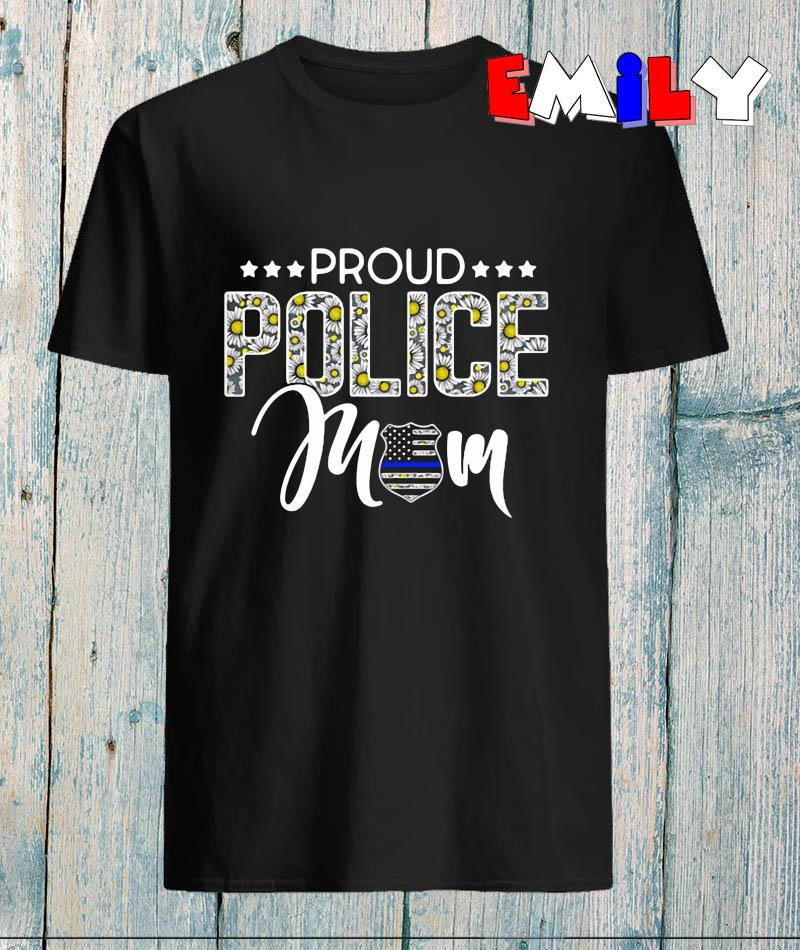 Proud police Mom floral