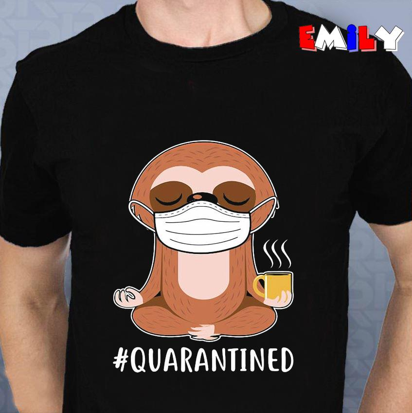 Sloth yoga medical mask quarantined 2020 unisex t-shirt