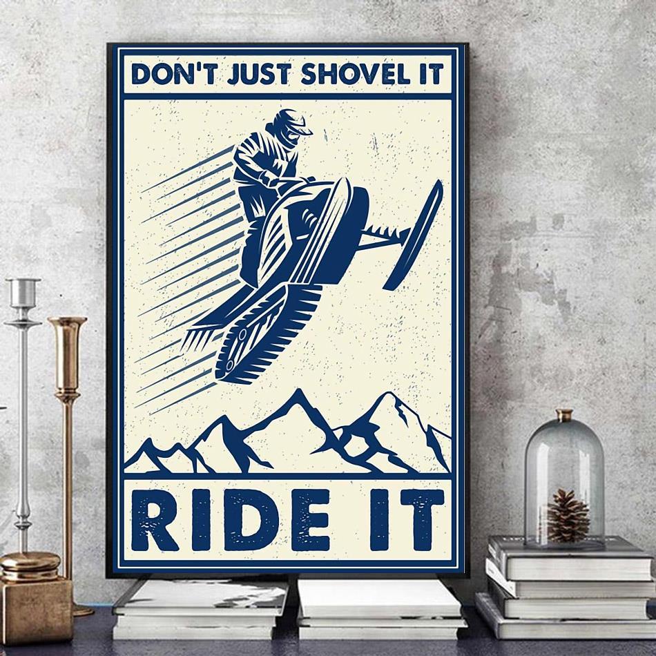 Snowcross don't just shovel it ride it canvas art