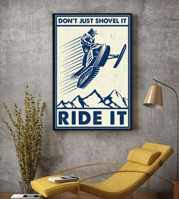 Snowcross don't just shovel it ride it canvas decor