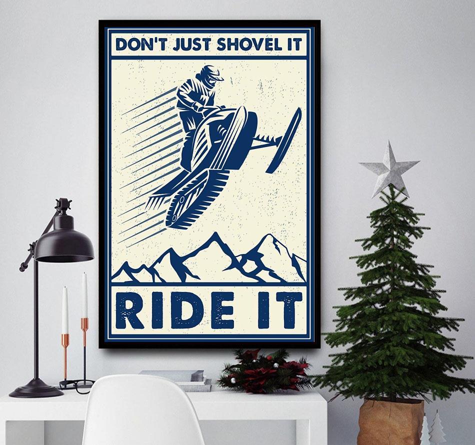Snowcross don't just shovel it ride it canvas