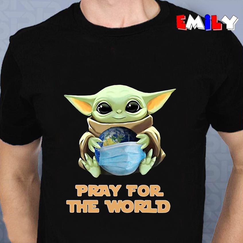 The Mandalorian Baby Yoda earth pray for the world unisex t-shirt
