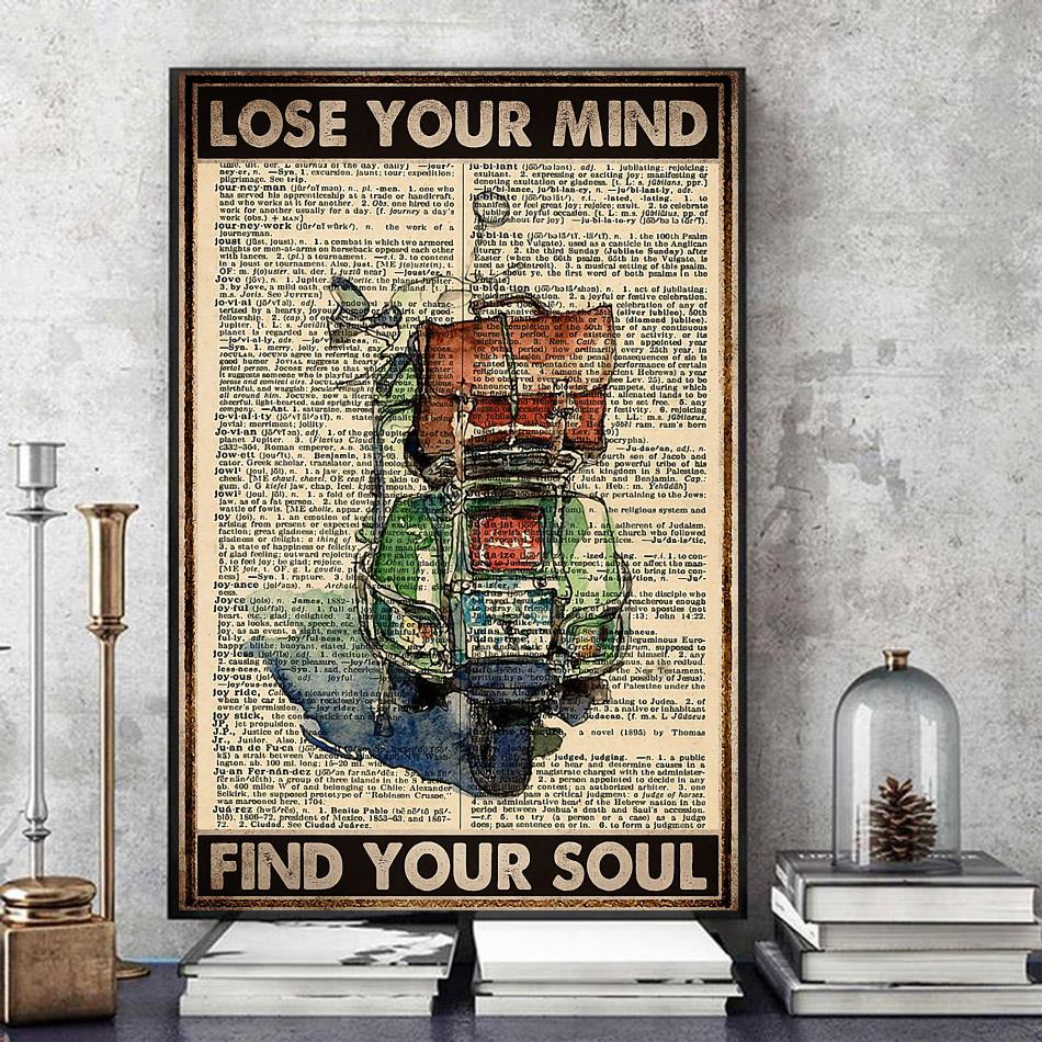 Travelling Scooter lose your mind find your soul poster art