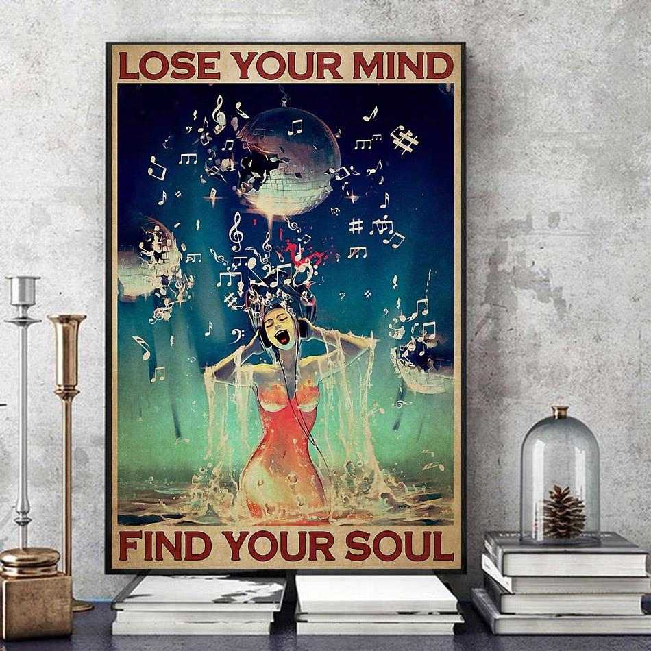 Universe music girl lose you mind find your soul poster art