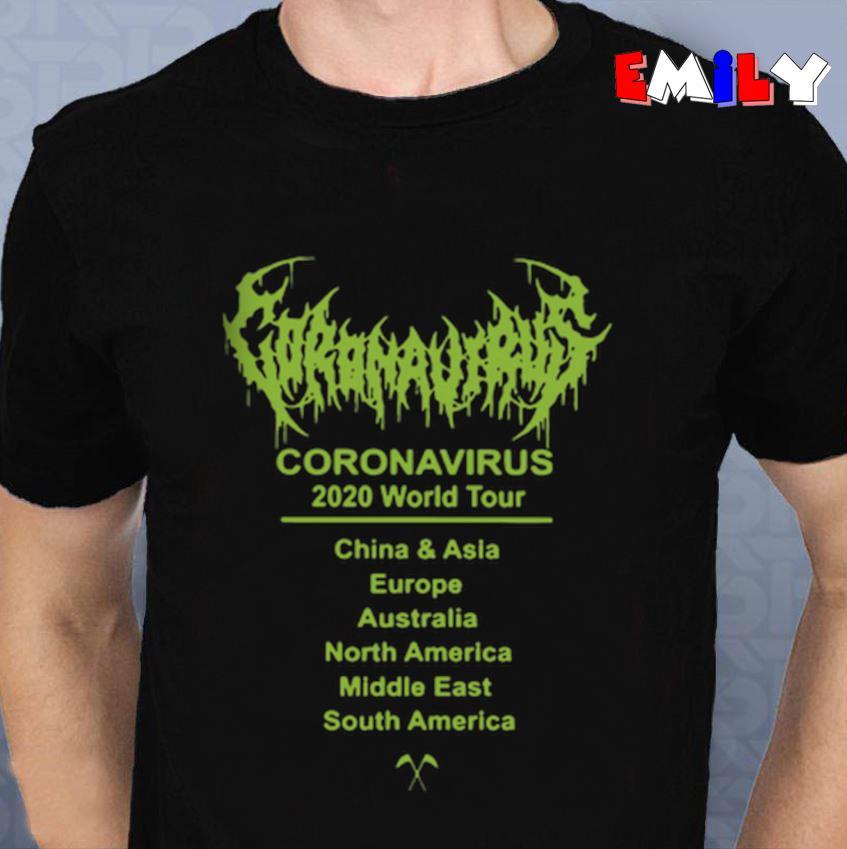 Updating Coronavirus 2020 world tour 2020 unisex t-shirt