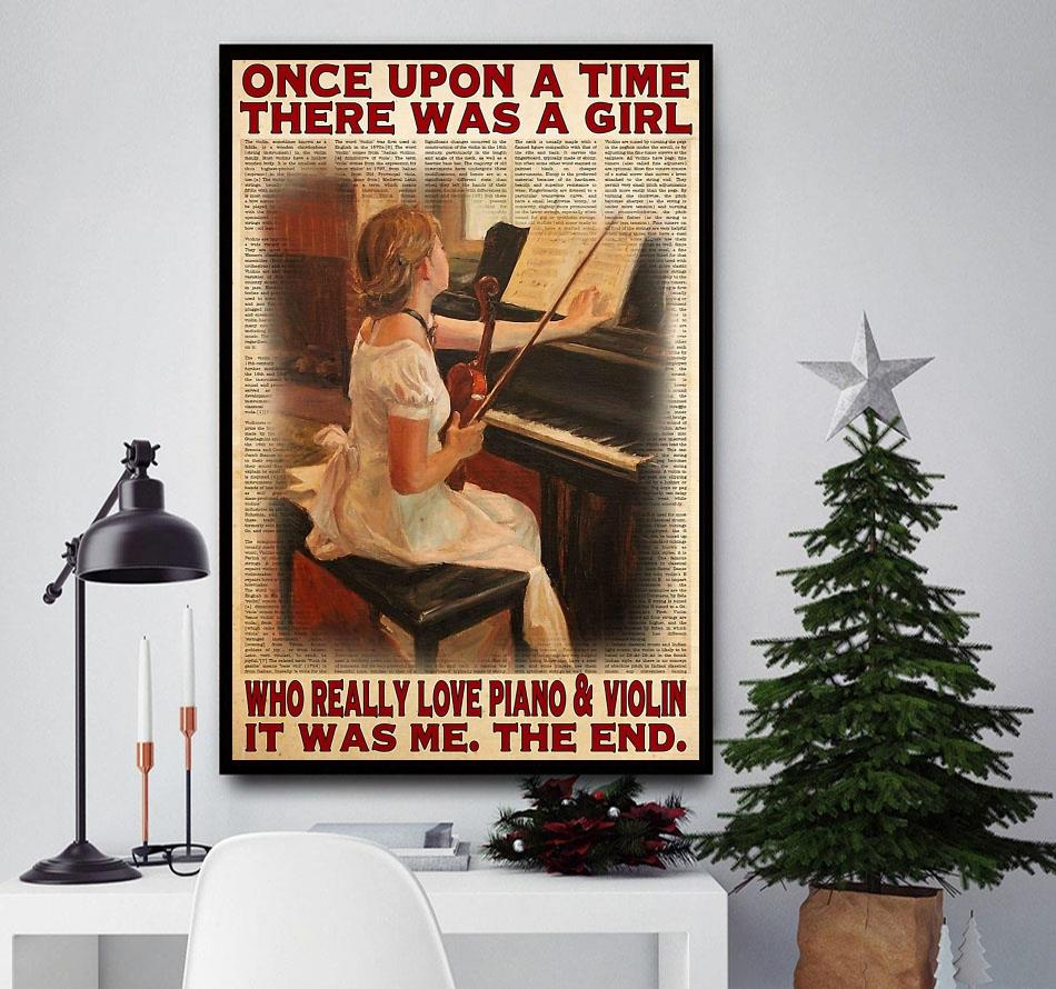 Upon a time a girl who really love piano and violin poster