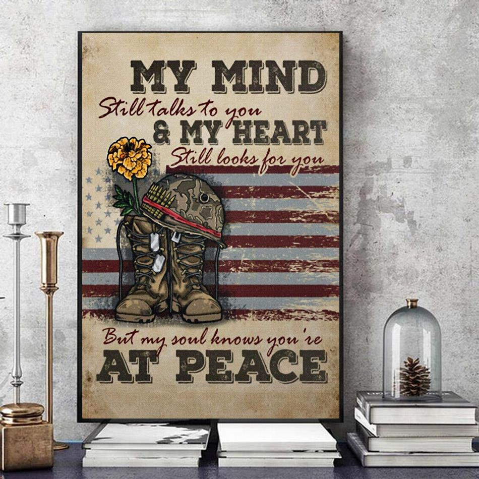 Veteran my mind still talks to you wall art art
