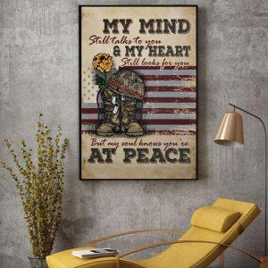 Veteran my mind still talks to you wall art decor