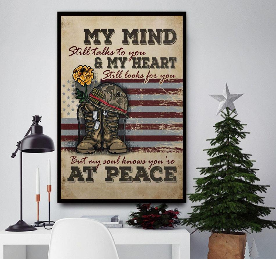 Veteran my mind still talks to you wall art