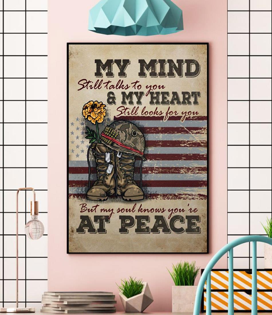Veteran my mind still talks to you wall art wall