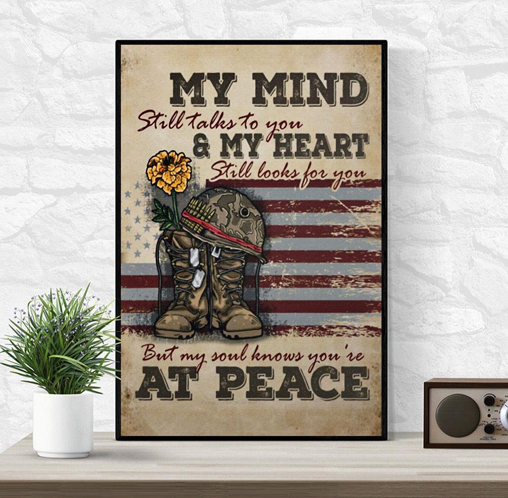 Veteran my mind still talks to you wall art wrapped
