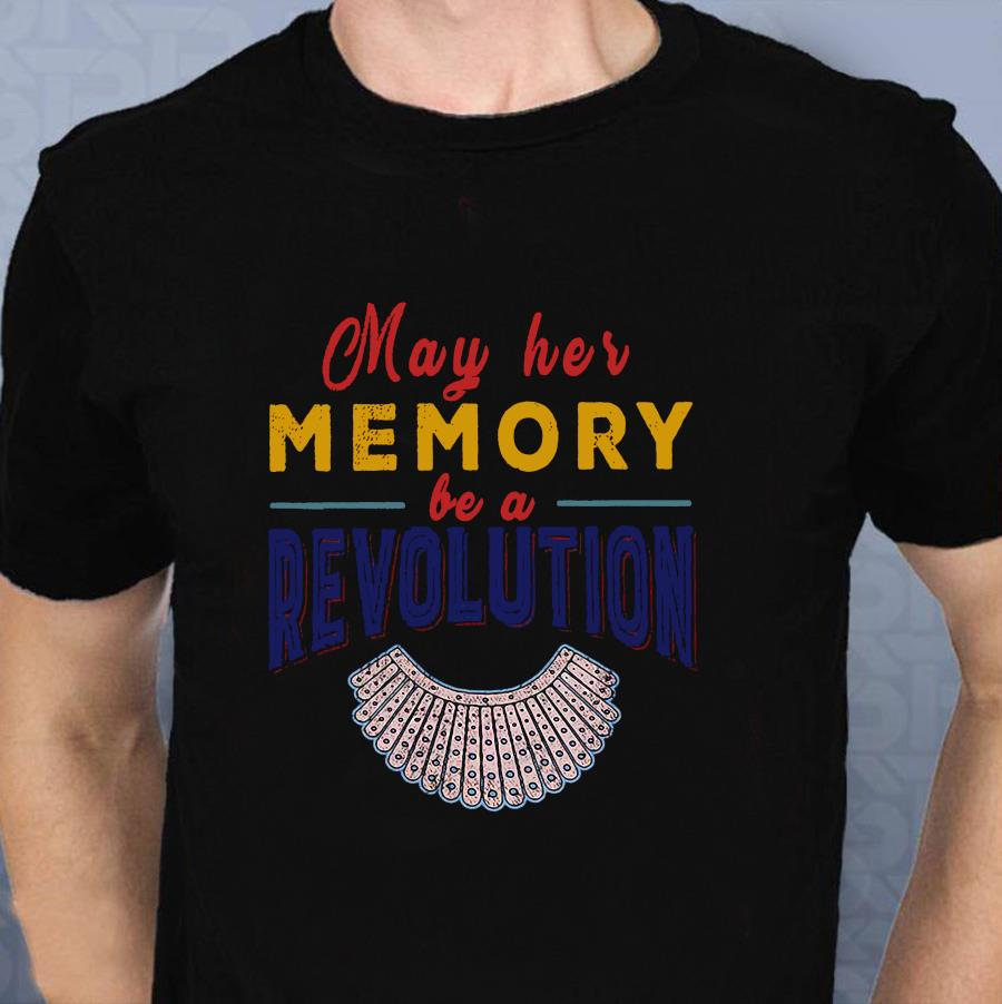 Vintage Notorious RBG may her memory be a revolution t shirt