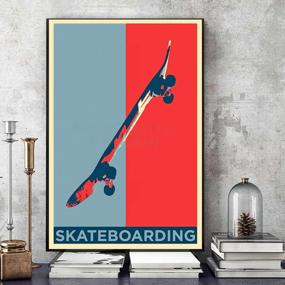 Vintage skateboard wall art art
