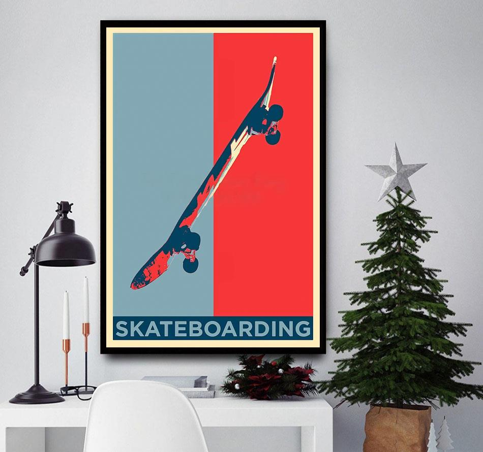 Vintage skateboard wall art
